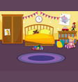 interior of childs bedroom vector image