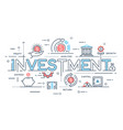 investment strategy profit capital growth vector image vector image