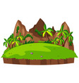 isolated green nature landscape vector image vector image