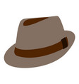 isolated hipster hat vector image