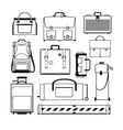 Luggage icons set vector image
