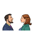 man and woman friends vector image vector image