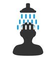 Man Under Shower Flat Icon vector image