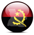 Map on flag button of Republic of Angola vector image