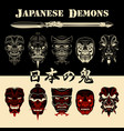 mask japanese demon vector image vector image