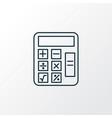 math icon line symbol premium quality isolated vector image
