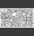 milan italy city map in black and white color vector image vector image