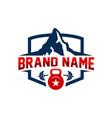 mountain sports logo vector image vector image