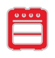 oven isolated icon design vector image vector image