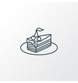piece of cake icon line symbol premium quality vector image