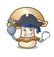 pirate portobello mushroom character cartoon vector image vector image