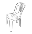 plastic chair outline vector image