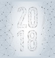 polygonal design for the new year 2018 vector image vector image
