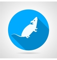 Rat flat blue icon vector image