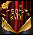 red gold christmas sale banner background page vector image vector image