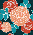 rose seamless pattren vector image