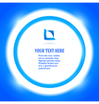 round frame your message bright blue background vector image vector image