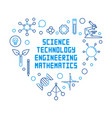 science technology engineering and math vector image vector image