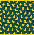 seamless pattern with cute yellow chickens vector image vector image