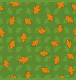 seamless pattern with hand drawn orange leaves on vector image