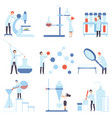 set images laboratory devices vector image vector image
