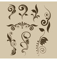 Set of patterns for design vector image vector image