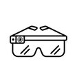 smart glasses outline Icon vector image vector image