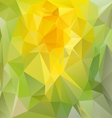 spring green yellow polygonal triangular pattern vector image vector image