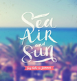 Summer hand drawn calligraphy vector image vector image