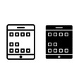 tablet screen line and glyph icon digital tablet vector image vector image