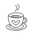 tea or coffee cup doodle hand drawn line vector image