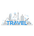 Travel - line travel vector image
