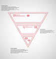 Triangle shape infographic template consists of vector image vector image