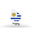 uruguay country flag inside map contour design vector image vector image