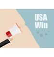 Usa win Flat design business vector image vector image