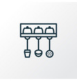 utensil holder icon line symbol premium quality vector image