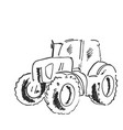 village land agrimotor utility model freehand vector image vector image