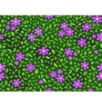 Violet flower and green leaf at seamless pattern vector | Price: 1 Credit (USD $1)