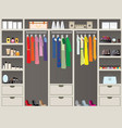 walk in closet11 vector image vector image