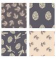 winter seamless pattern pine cone cedar vector image vector image