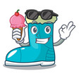 with ice cream winter boots fur isolated on mascot vector image vector image