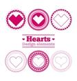 hearts design elements vector image