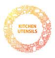 kitchen line icon circle concept vector image