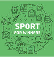 linear sport for winners vector image