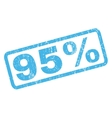 95 Percent Rubber Stamp vector image vector image