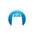 abstract circle shopping bag logo designs concept vector image vector image