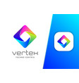abstract square vertex technology logo design vector image vector image