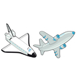 Airplane and shuttle vector image
