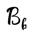alphabet letter b lettering calligraphy manuscript vector image vector image