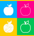 Apple sign four styles of icon on